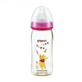 Bình sữa PPSU Plus gấu Pooh Pigeon 240ml (M)