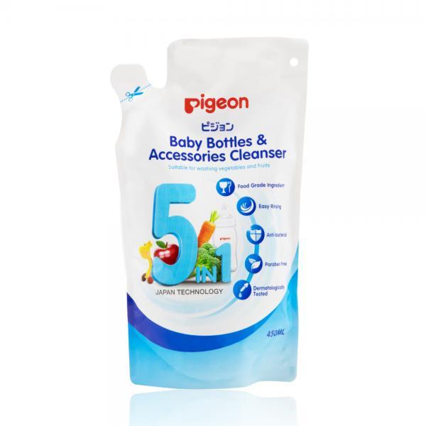 Dung dịch súc rửa bình sữa & phụ kiện Pigeon 450ml thay thế