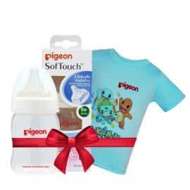 Bình sữa PP Plus 160ml tặng Áo thun Pokemon Xanh size nhỏ