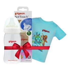 Bình sữa PP Plus 240ml tặng Áo thun Pokemon Xanh size nhỏ