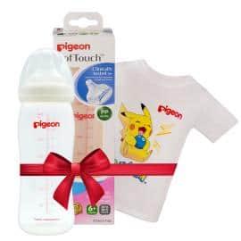 Bình sữa PP Plus 330ml tặng Áo thun Pokemon Trắng size lớn