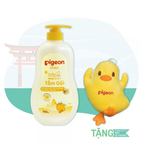 Tắm gội dịu nhẹ cho bé Pigeon Hương Hoa Hướng Dương 700ml - MẪU MỚI