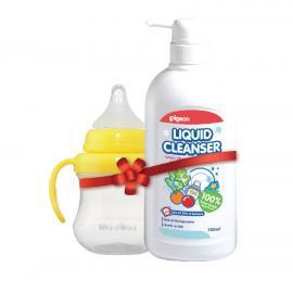 Nước rửa bình sữa 700ML 12960 LCLEANSER tặng Ly Magmag núm vú HSD: 04/2020