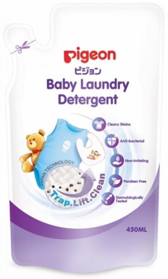 Nước giặt quần áo trẻ em Pigeon túi 450ml