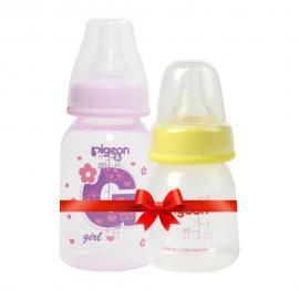 Bình sữa PP cao cấp bé gái 120ml tặng bình uống nước 50ml HSD 01.2023