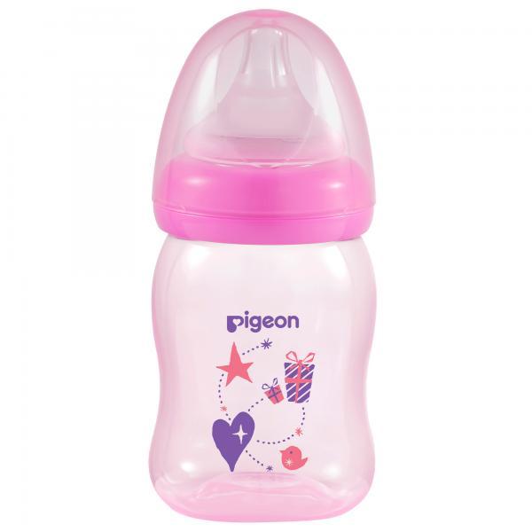 Bình sữa PP Plus họa tiết hồng 160ml (SS)