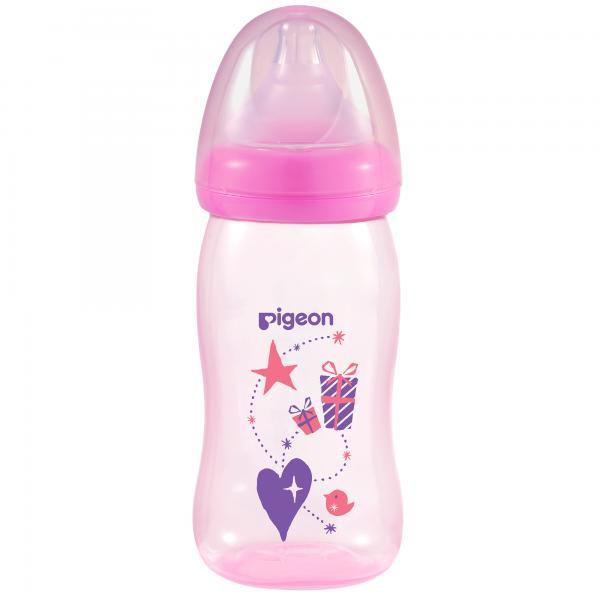 Bình sữa PP Plus họa tiết hồng 240ml (M)